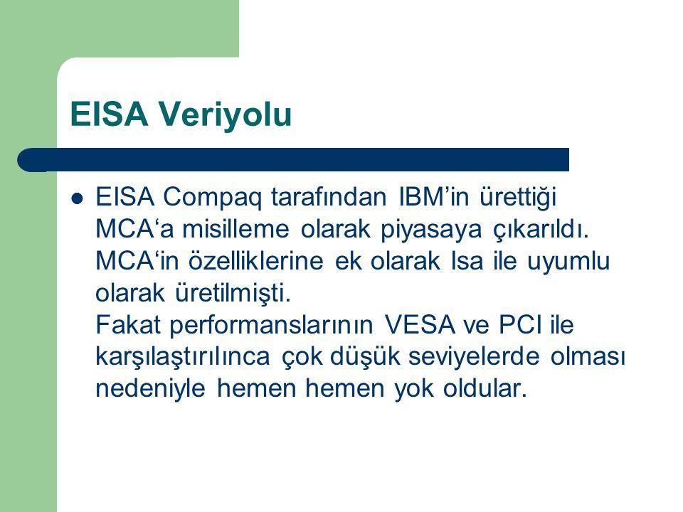 EISA Veriyolu EISA Compaq tarafından IBM'in ürettiği MCA'a misilleme olarak piyasaya çıkarıldı.