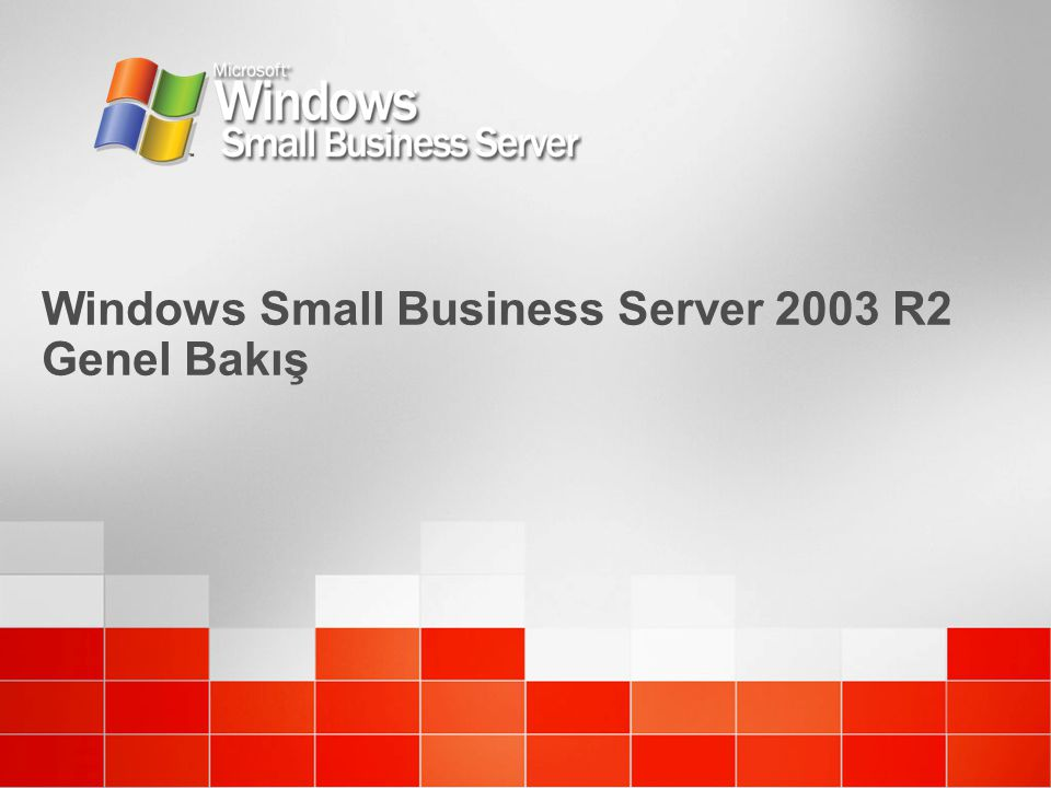 Windows Small Business Server 2003 R2 Genel Bakış