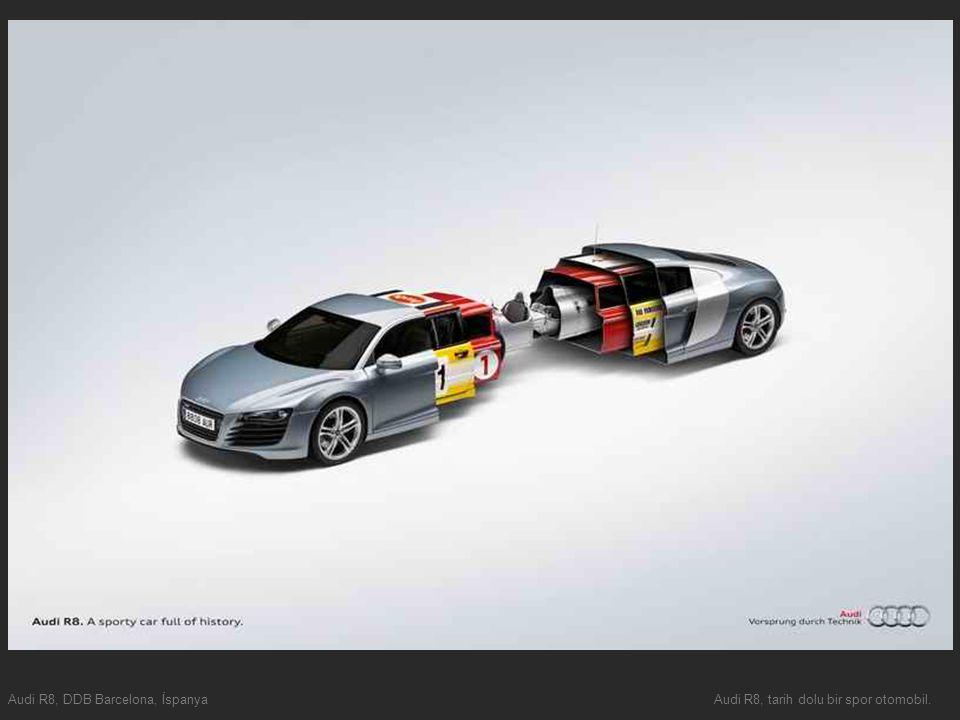 Audi R8, DDB Barcelona, İspanyaAudi R8, tarih dolu bir spor otomobil.