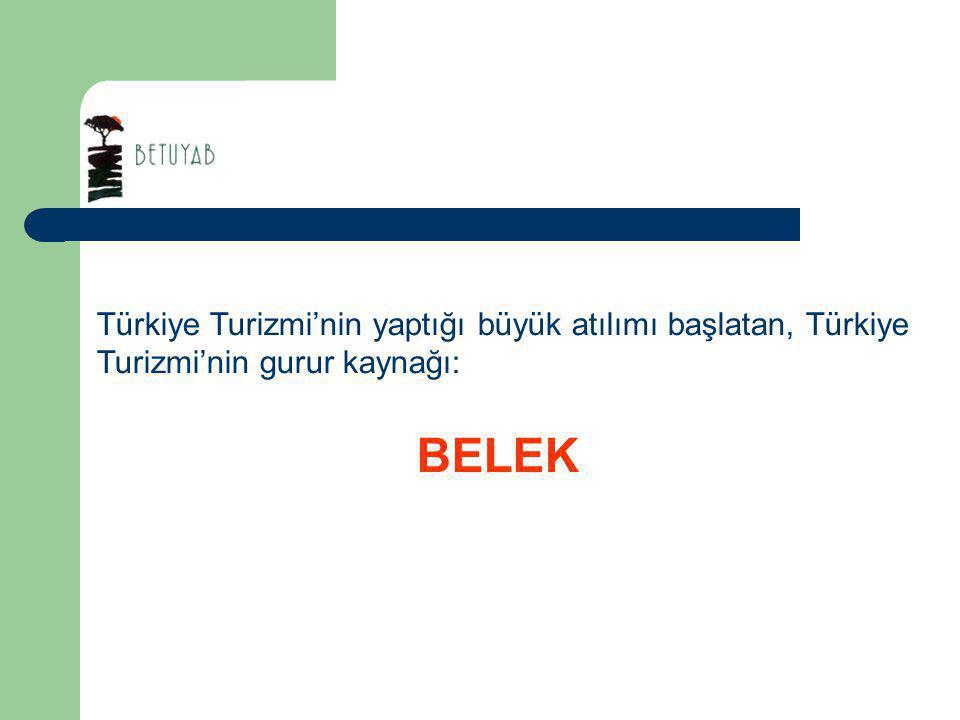 Türkiye Turizmi'nin yaptığı büyük atılımı başlatan, Türkiye Turizmi'nin gurur kaynağı: BELEK