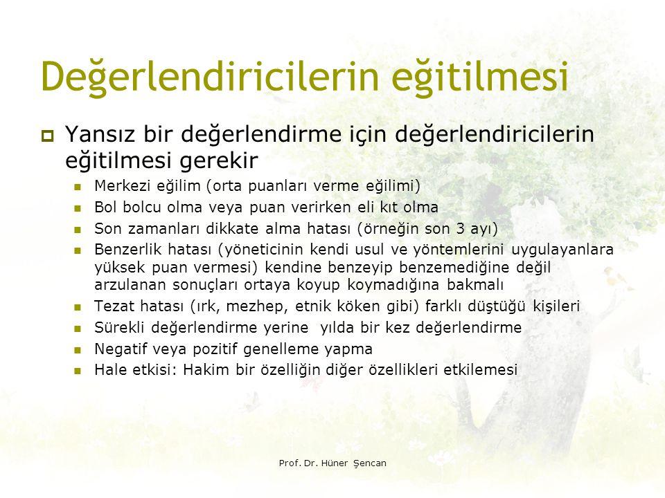 Derece tanımlarının yapılması «STANDARTLARI KARŞILAMA» NE ANLAMA GELİYOR Prof.