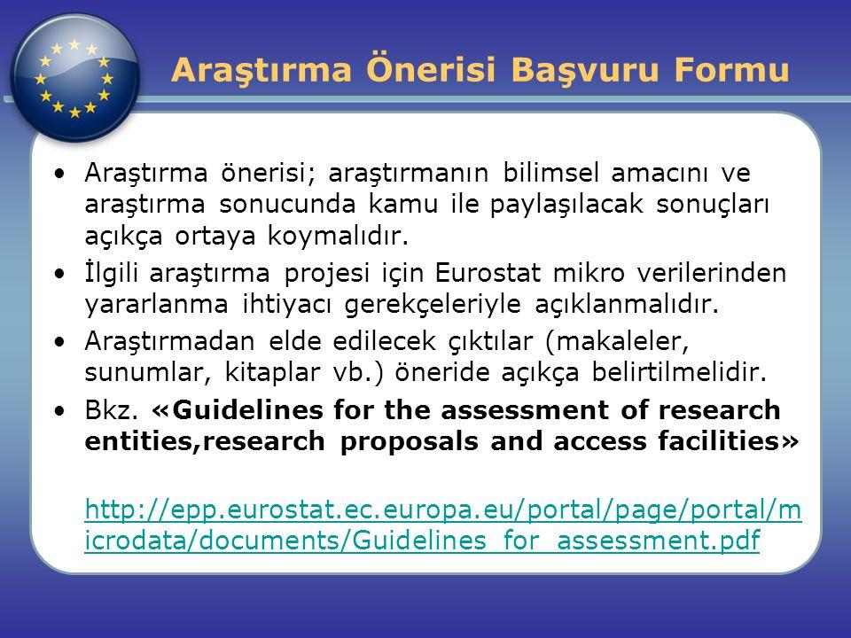 Araştırma önerisi; araştırmanın bilimsel amacını ve araştırma sonucunda kamu ile paylaşılacak sonuçları açıkça ortaya koymalıdır.