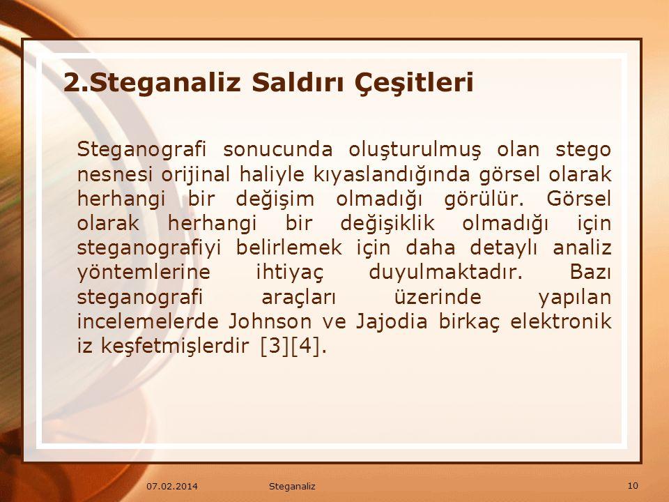 Steganografi sonucunda oluşturulmuş olan stego nesnesi orijinal haliyle kıyaslandığında görsel olarak herhangi bir değişim olmadığı görülür. Görsel ol