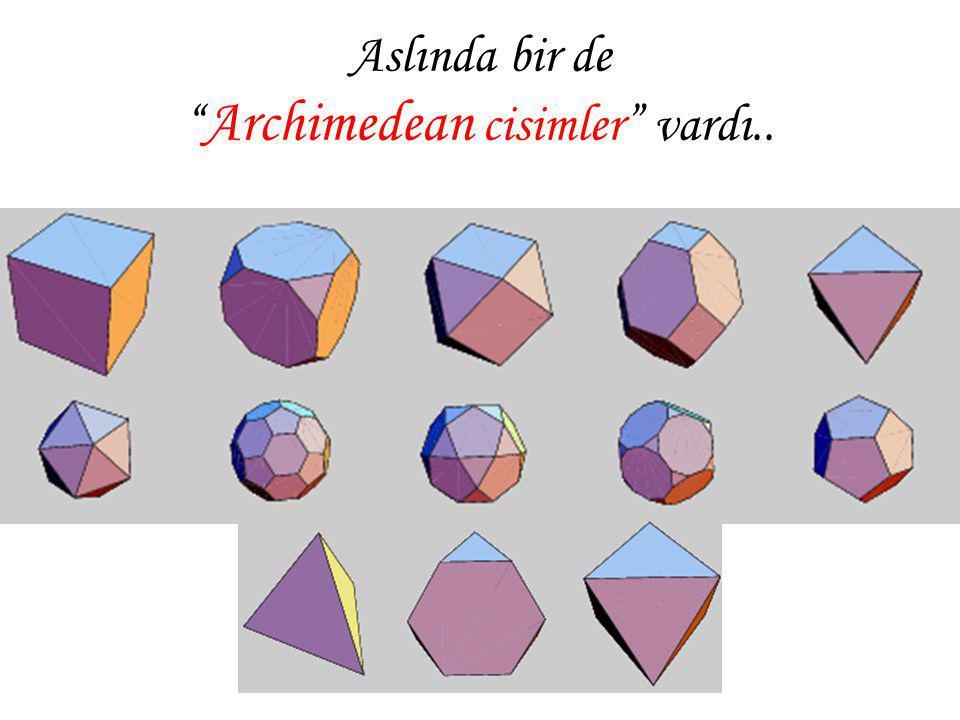 """Aslında bir de """" Archimedean cisimler"""" vardı.."""