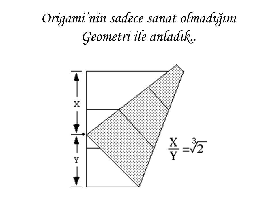 Origami'nin sadece sanat olmadığını Geometri ile anladık..