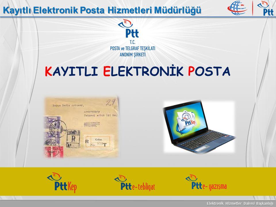 Elektronik Hizmetler Dairesi Başkanlığı Kayıtlı Elektronik Posta Hizmetleri Müdürlüğü KAYITLI ELEKTRONİK POSTA