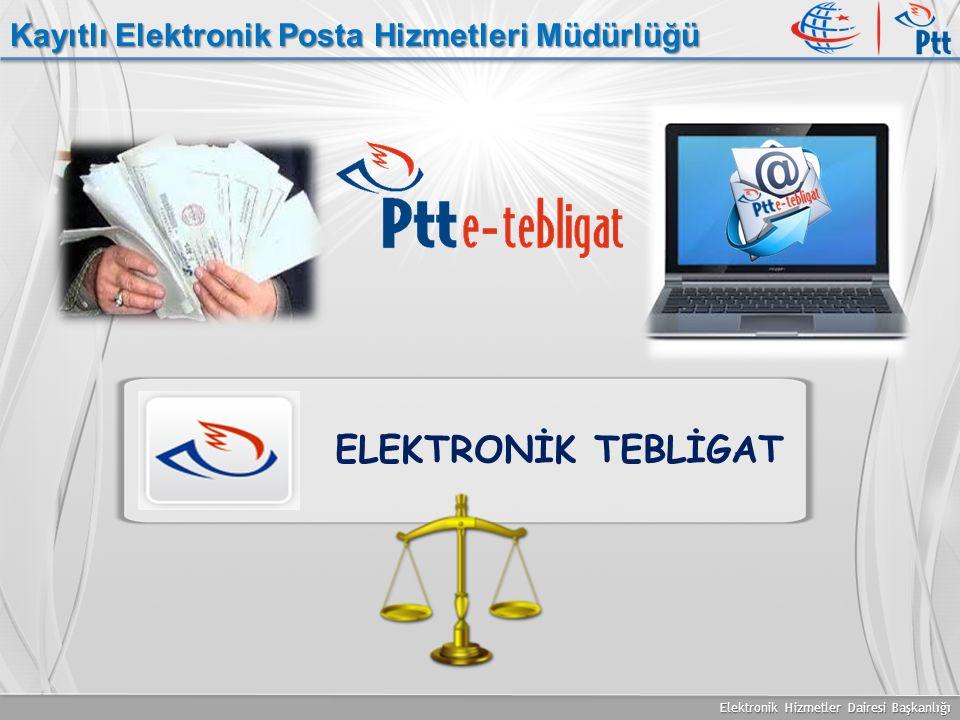 Elektronik Hizmetler Dairesi Başkanlığı Kayıtlı Elektronik Posta Hizmetleri Müdürlüğü ELEKTRONİK TEBLİGAT
