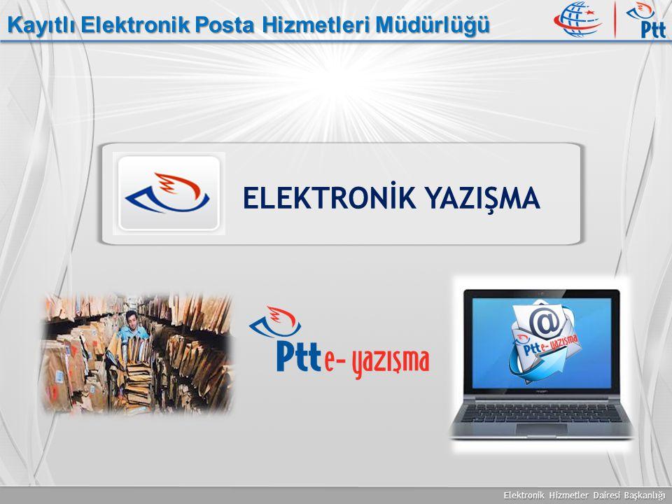 Elektronik Hizmetler Dairesi Başkanlığı Kayıtlı Elektronik Posta Hizmetleri Müdürlüğü ELEKTRONİK YAZIŞMA