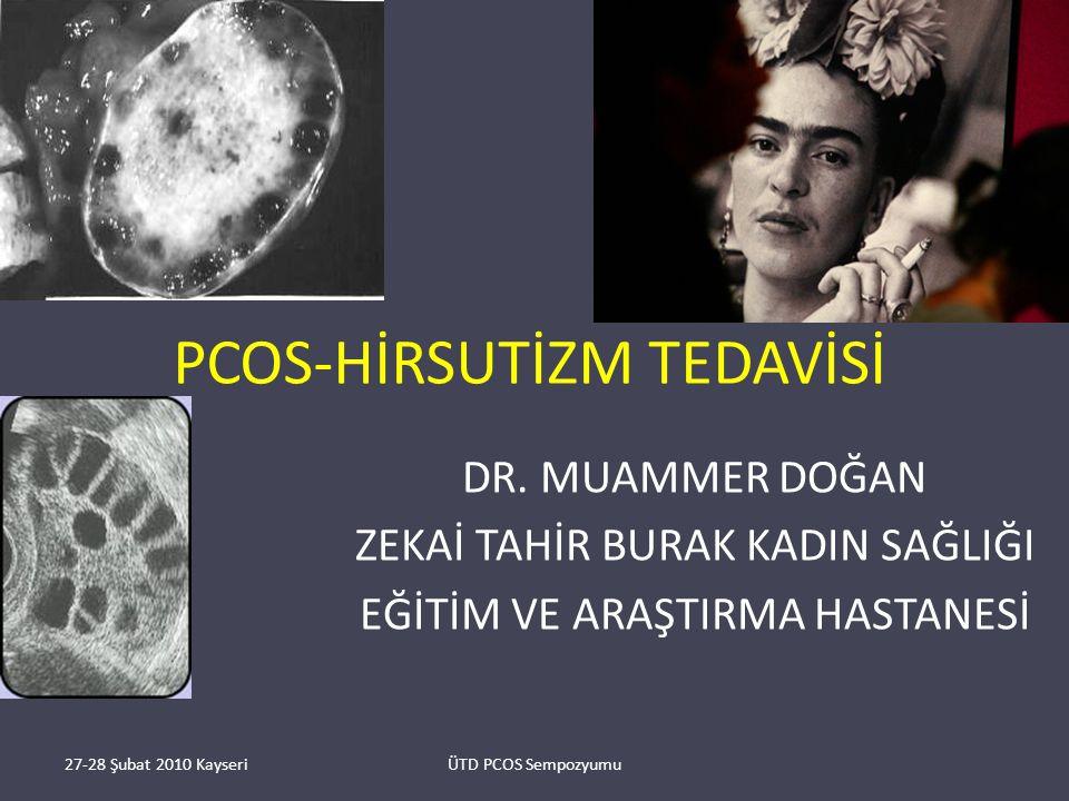 PCOS-HİRSUTİZM TEDAVİSİ DR.