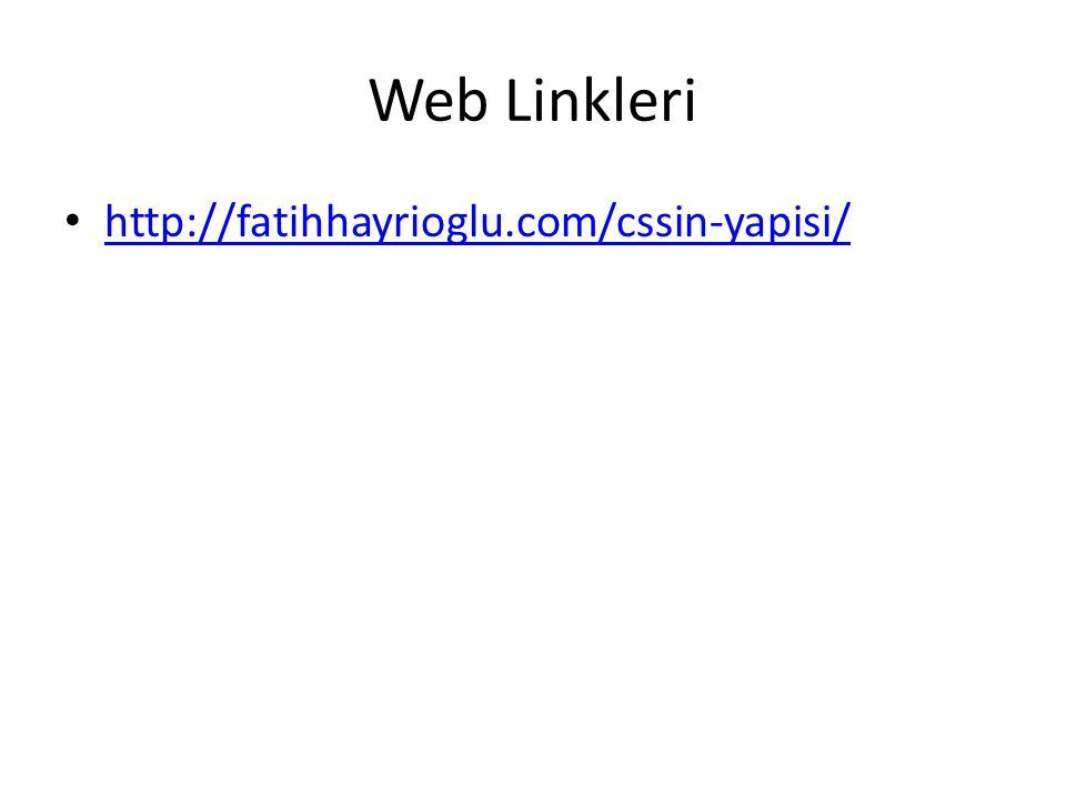 Web Linkleri http://fatihhayrioglu.com/cssin-yapisi/