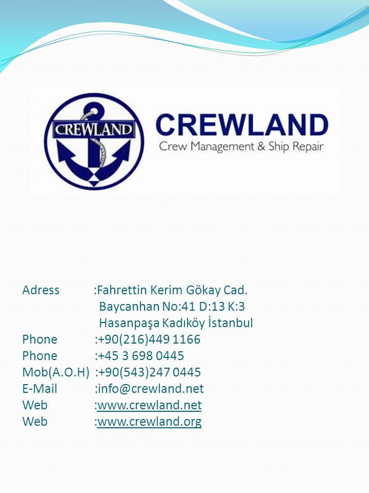 Vizyonumuz/Misyonumuz Crewland Gemi Personeli, Dünya da ve Türkiye de insan kaynağının gelişimine katkıda bulunan bir başvuru kaynağı olarak, iş arayan adaylar ile eleman arayan denizcilik firmalarını internet platformunda buluşturan % 100 gizlilik ilkesine sahip kullanımı kolay en kapsamlı iş arama sitesidir.