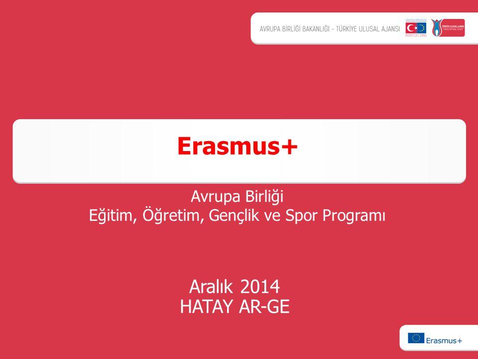 Aralık 2014 HATAY AR-GE Erasmus+ Avrupa Birliği Eğitim, Öğretim, Gençlik ve Spor Programı