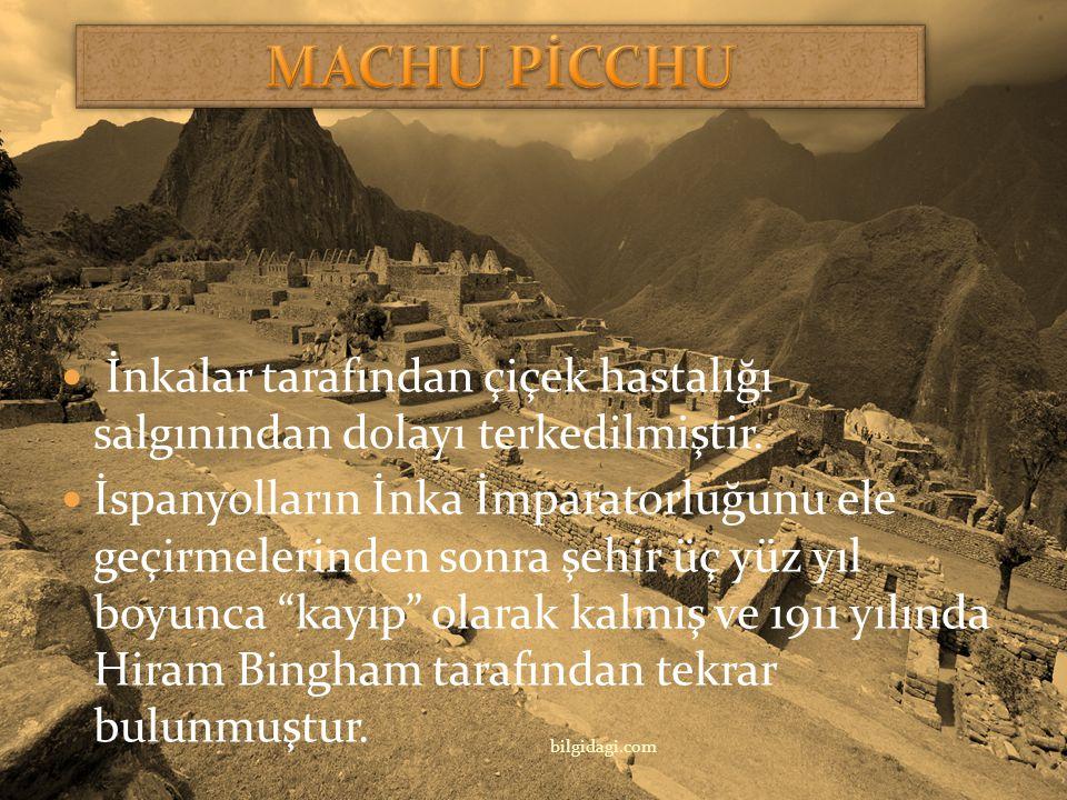 """(1460-1470) Machu Picchu, Peru Inka İmparatoru Pachacutec 15. yüzyılda Manchu Picchu (""""Eski Dağ"""") olarak bilinen dağda bulutlar içinde bir şehir inşa"""