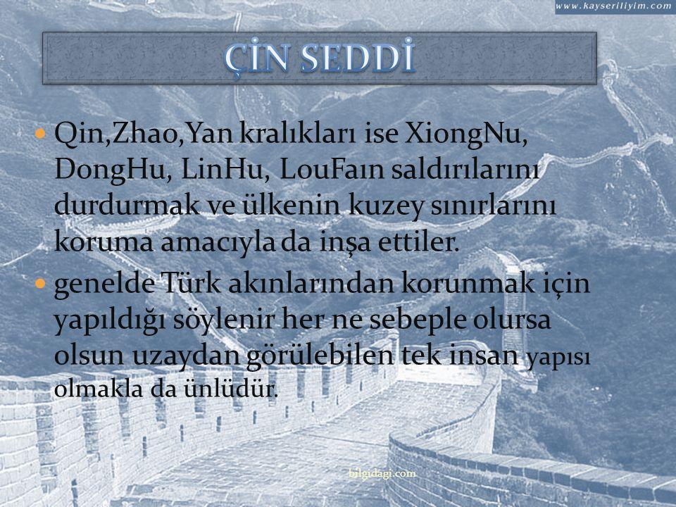 Çin'in Savaşan Beylikler döneminde (M.Ö.403 M.Ö.221), Çin seddinin temeli 20den fazla ayrı ayrı krallık tarafından atılmıştı. Chu, Qi, Yan, Wei, Han,
