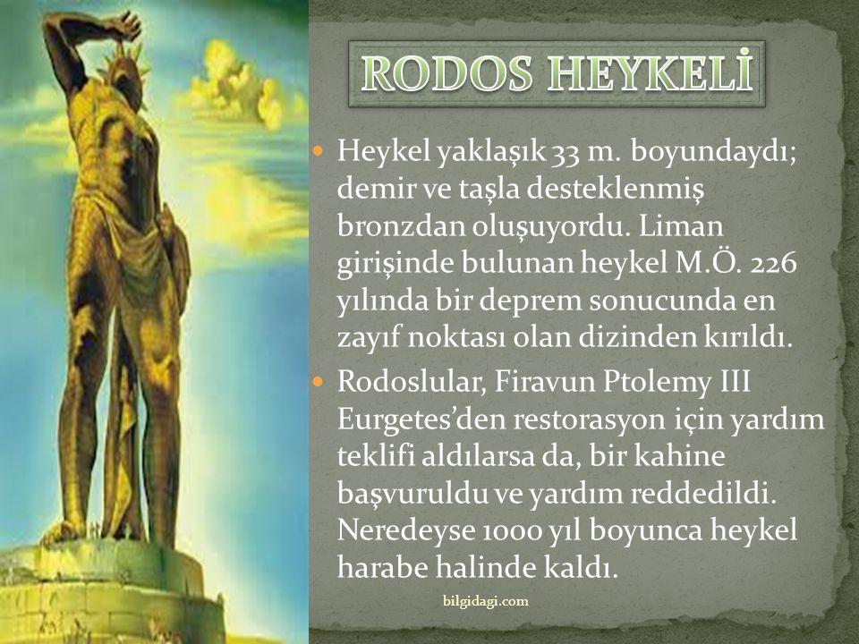 Yapılışından yok oluşuna kadar yalnızca 56 yıl geçmesine rağmen, Rodos Heykeli dünyanın yedi harikasından biri olmayı başardı. Rodos Heykeli yapıldığı