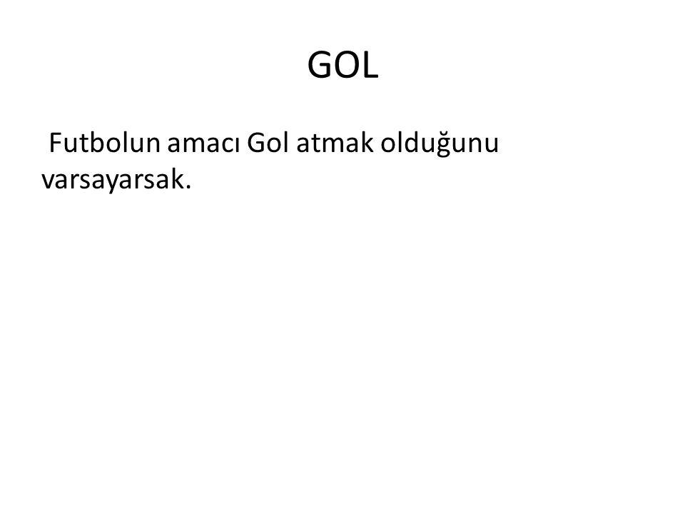 GOL Futbolun amacı Gol atmak olduğunu varsayarsak.