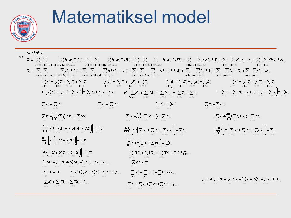 Matematiksel model s.t.