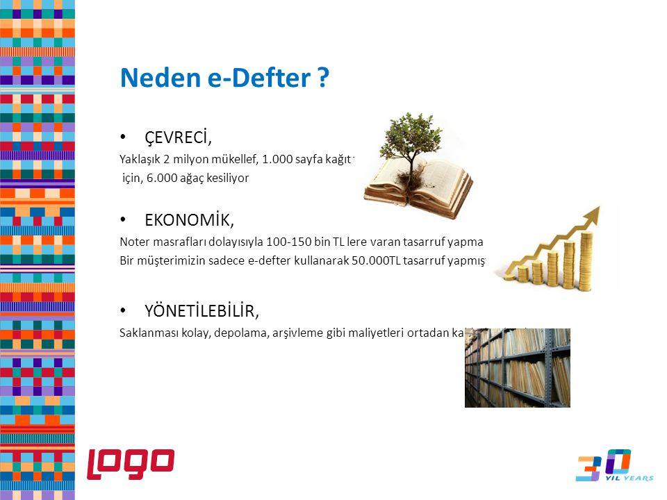 Sistem işletmeni firma tanımında Genel Bilgiler eksiksiz doldurulmalı e-Defter LOGO e-Defter Uygulaması