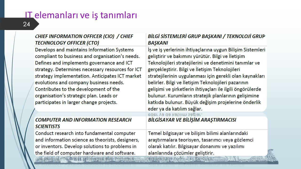 IT elemanları ve iş tanımları 24