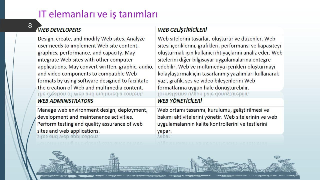 IT elemanları ve iş tanımları 8