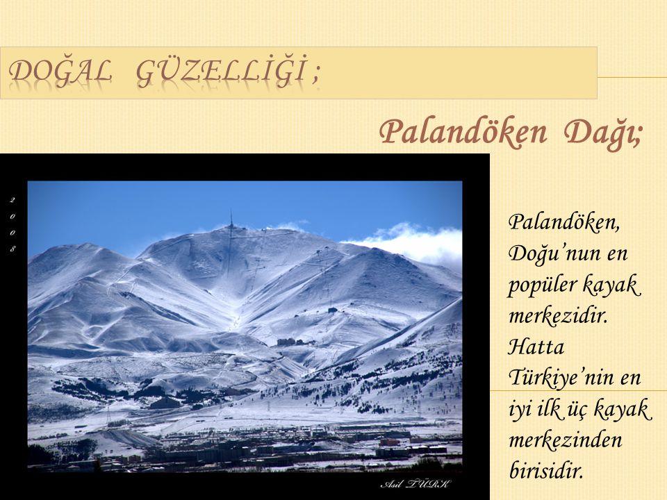 Palandöken Dağı; Palandöken, Doğu'nun en popüler kayak merkezidir.