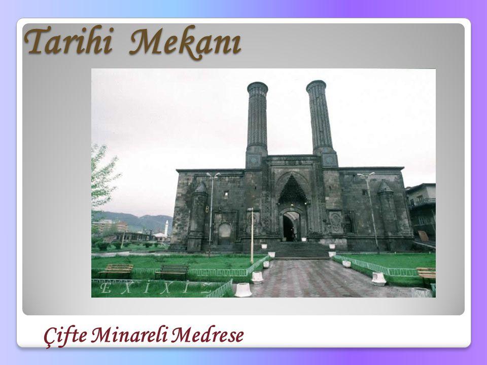 Tarihi Mekanı Çifte Minareli Medrese