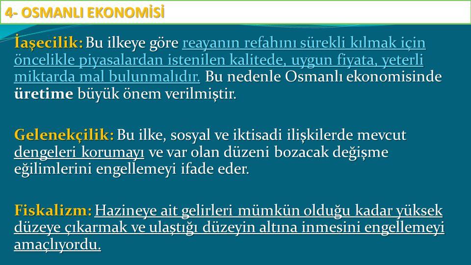 Uygulanan bu tarım politikası sonucu, ucuz Osmanlı ürünlerine Avrupa'dan gelen talep tarımda genişlemeye yol açmıştır.