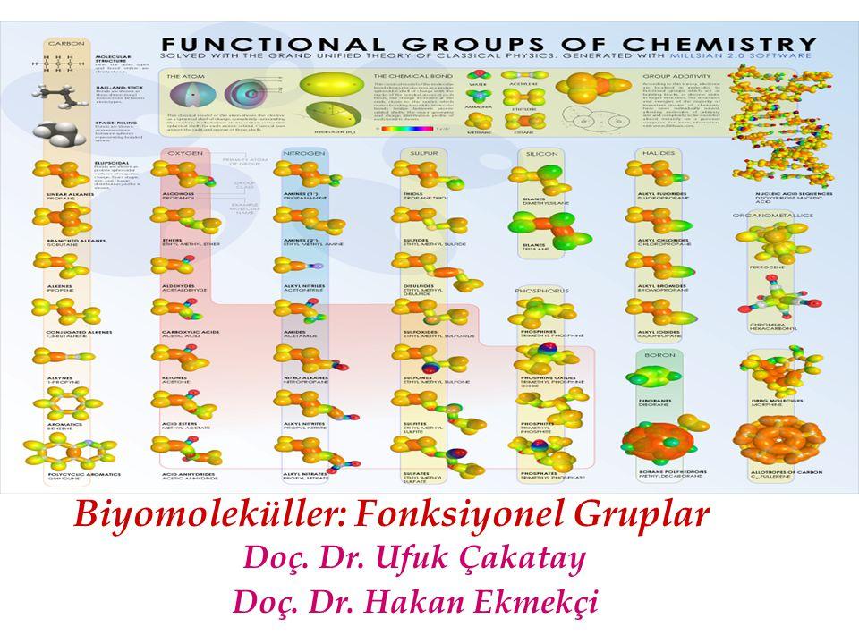 Doç. Dr. Ufuk Çakatay Doç. Dr. Hakan Ekmekçi Biyomoleküller: Fonksiyonel Gruplar