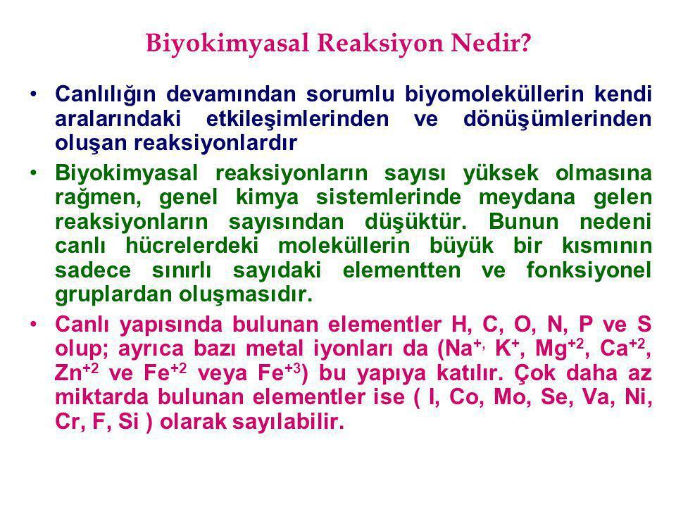 Biyokimyasal Reaksiyon Nedir? Canlılığın devamından sorumlu biyomoleküllerin kendi aralarındaki etkileşimlerinden ve dönüşümlerinden oluşan reaksiyonl