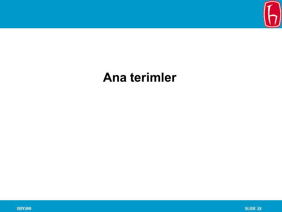 SLIDE 22BBY208 Chapter 8 Experiments Ana terimler