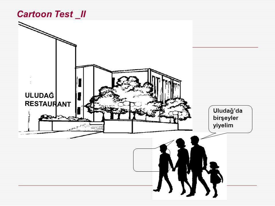 Cartoon Test _II ULUDAĞ RESTAURANT Uludağ'da birşeyler yiyelim Figure 6.6 A Cartoon TestFigure 6.6 A Cartoon Test