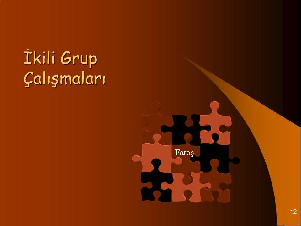 12 İkili Grup Çalışmaları Fatoş