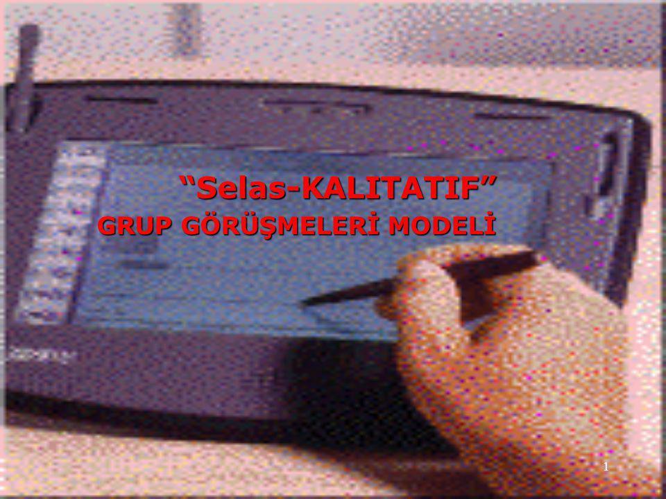 Selas-KALITATIF Modeli TEKNİK ÖZELLİKLERİMİZ..Mini Grup Toplantı Odamız  25 m 2 genişliğinde  6 katılımcı kapasiteli  Ergonomik koltuklu  Kapalı devre TV-video sistemli  Video-ses kaydı donanımlı  Bilgisayar-Internet donanımlı  İkramlar