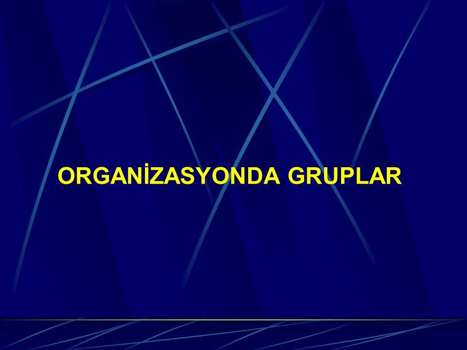 ORGANİZASYONDA GRUPLAR