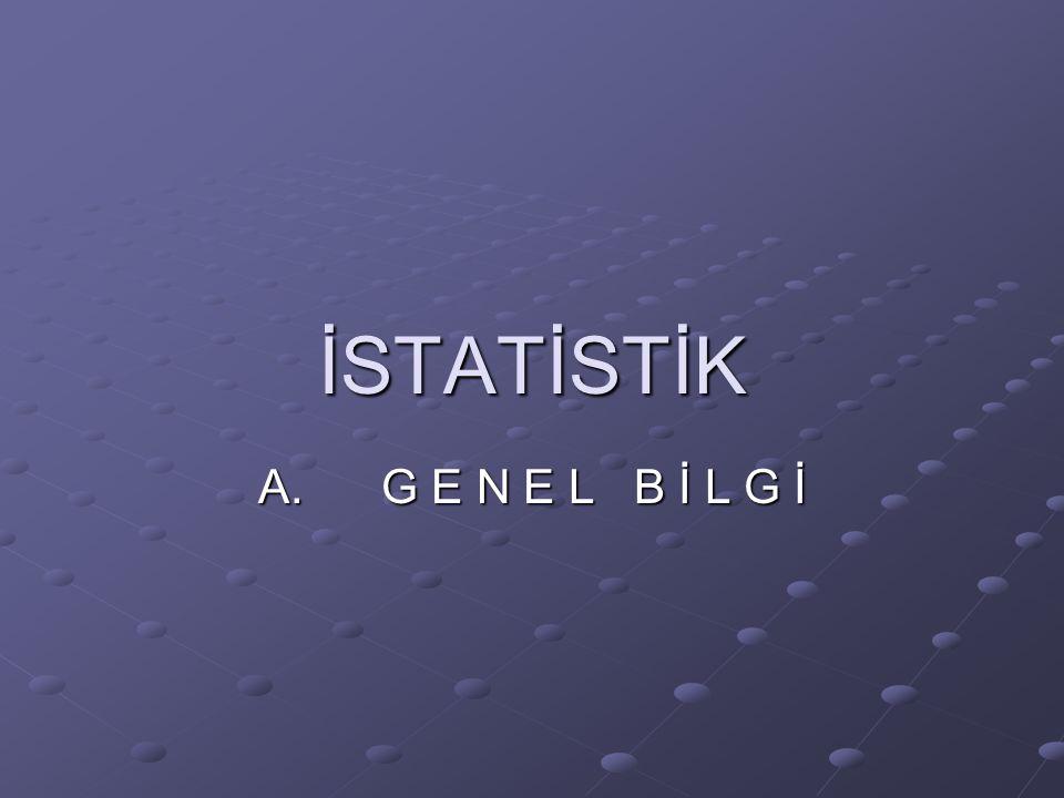 İstatistik, elde edilen bir grup verinin belli hesaplama yöntemiyle objektif değerlendirilmesidir.