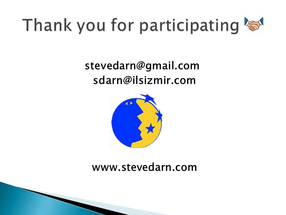 stevedarn@gmail.com sdarn@ilsizmir.com www.stevedarn.com