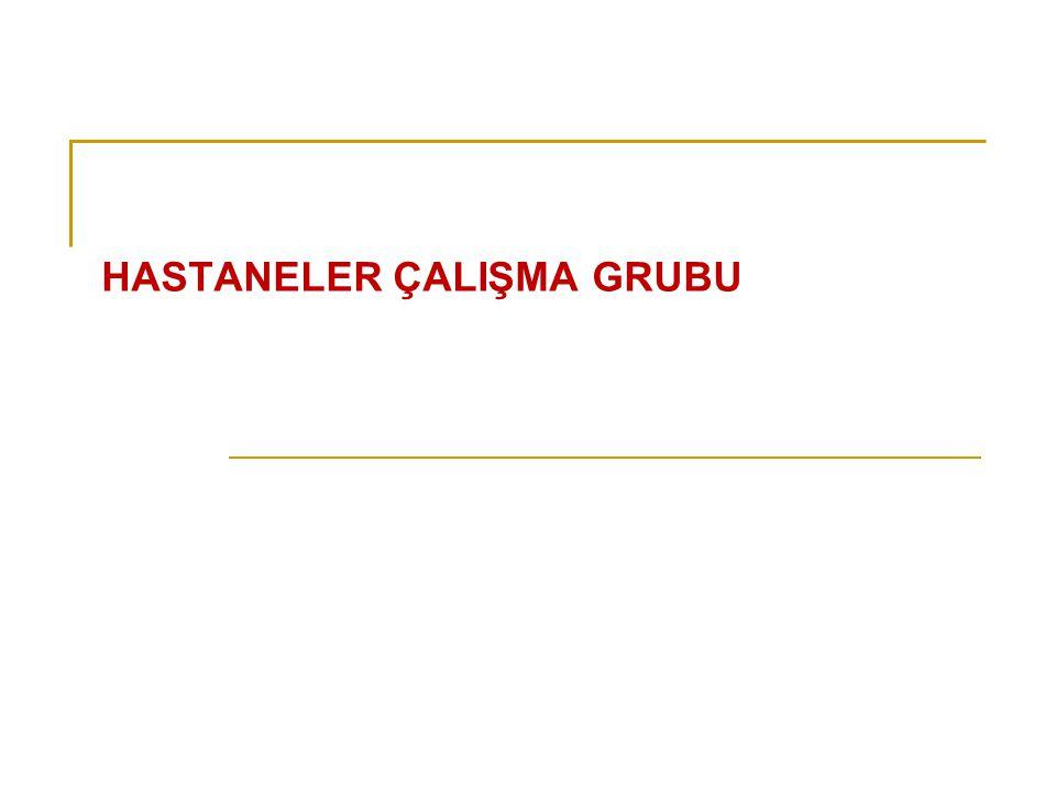 HASTANELER ÇALIŞMA GRUBU
