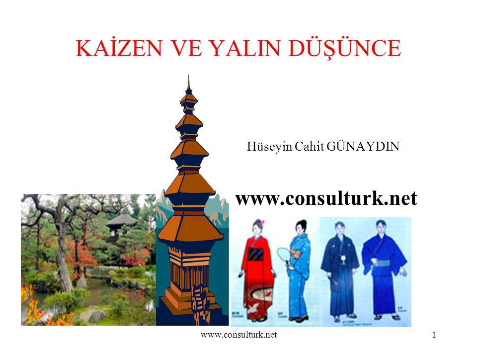 www.consulturk.net1 KAİZEN VE YALIN DÜŞÜNCE Hüseyin Cahit GÜNAYDIN www.consulturk.net