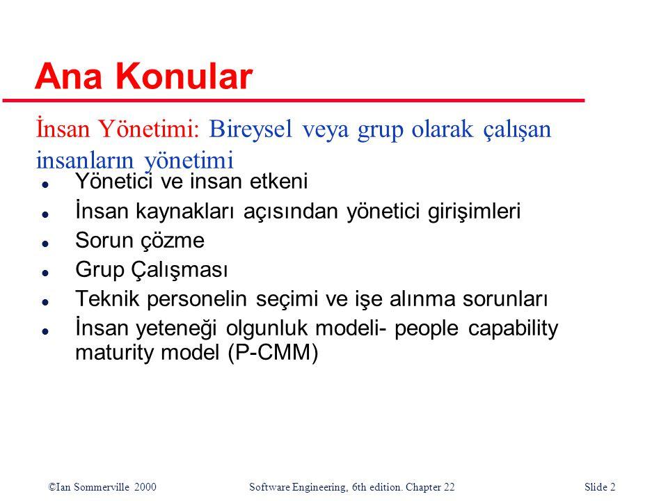 ©Ian Sommerville 2000 Software Engineering, 6th edition. Chapter 22Slide 13 anlamsal bilgi