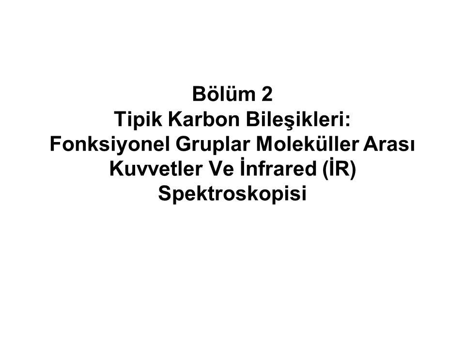 Bölüm 252 Aromatik Hidrokarbonlar  Benzen halkasının C-C bağlarının gerilmeleri genellikle, 1450-1600 cm -1 bölgesinde belirgin keskin pik grupları verir  Örnekler: Metil benzen