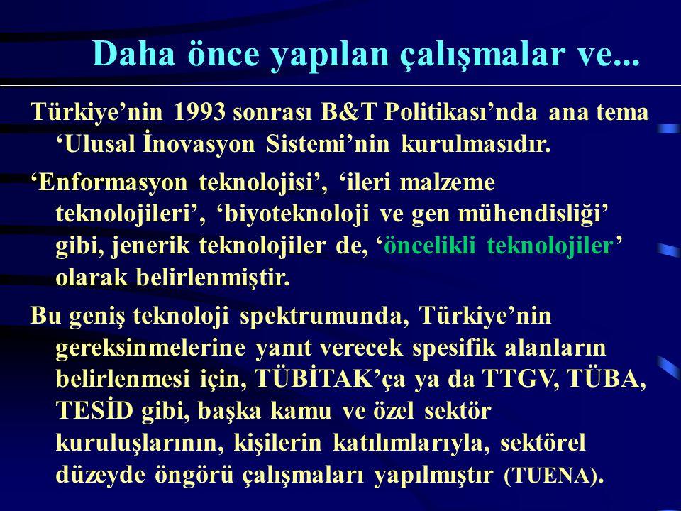 Sektörel düzeydeki bu 'teknoloji öngörüleri'ndeki önemli eksik, Türkiye'nin sosyoekonomik ve siyasi hedeflerine işaret eden bir vizyonun olmamasıdır.