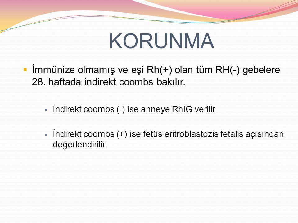  İzoimmünizasyon, Rh (D) negatif annenin, Rh (D) pozitif eritrositlerle karşılaşmasıyla olur.  En az 0.05 - 0,1 ml fetal eritrosit annede yeterli mi