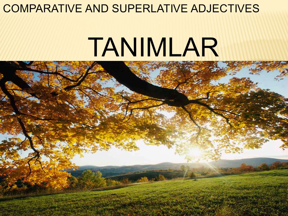 COMPARATIVE AND SUPERLATIVE ADJECTIVES TANIMLAR