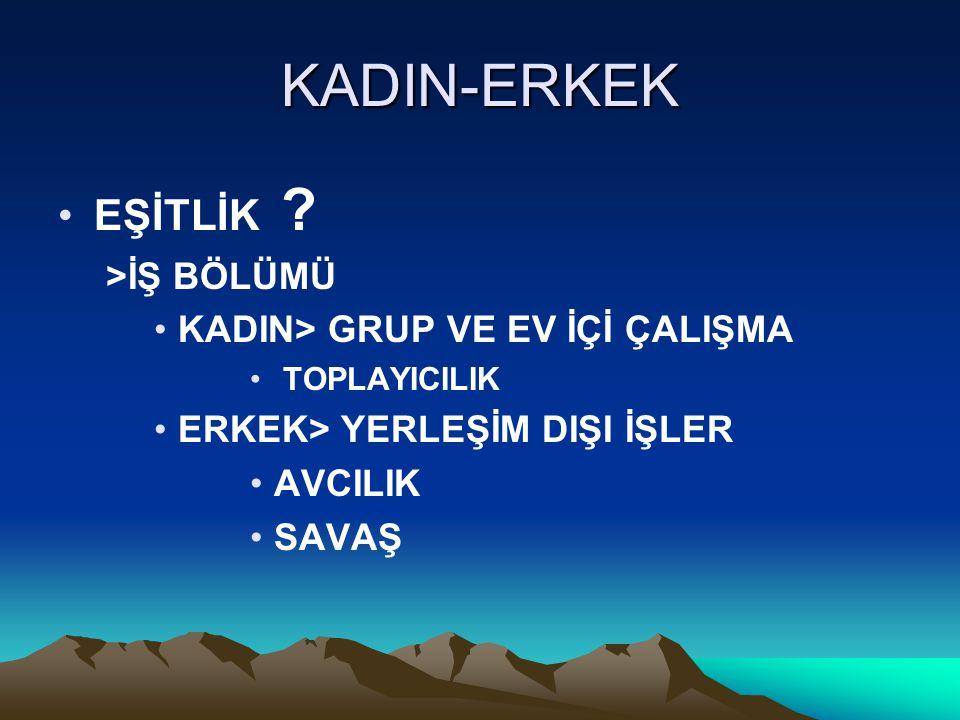KADIN-ERKEK EŞİTLİK .