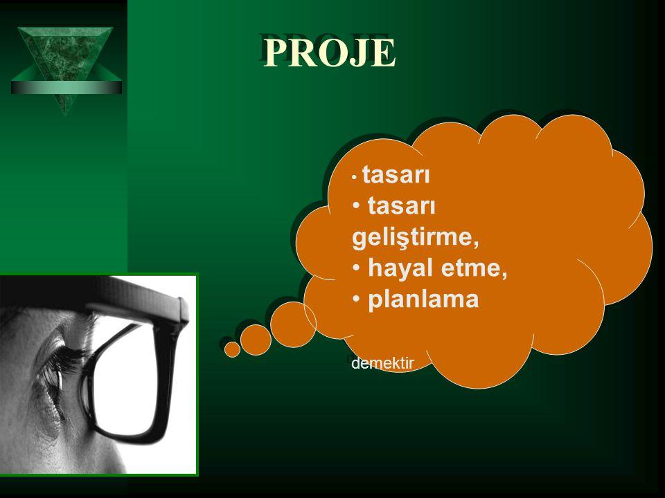 PROJE tasarı tasarı geliştirme, hayal etme, planlama demektir tasarı tasarı geliştirme, hayal etme, planlama demektir