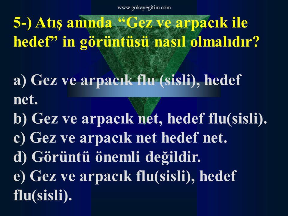 www.gokayegitim.com 5-) Atış anında Gez ve arpacık ile hedef in görüntüsü nasıl olmalıdır.