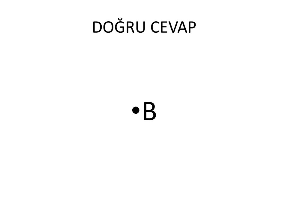 DOĞRU CEVAP D