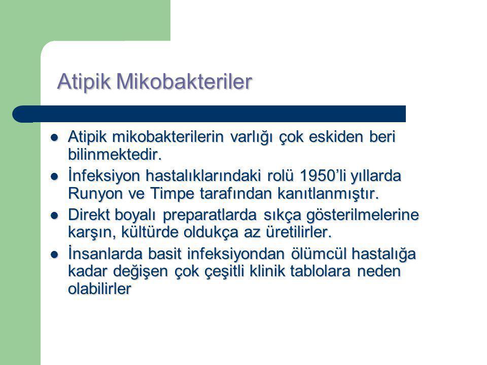 Mycobacterium avium complex (MAC) MAC'a bağlı TBC benzeri hastalık: *45-60 yaşlarında *Çok sigara ve alkol kullanan *Bir kısmında önceden akciğer şikayeti olan *Erkek hastalarda ortaya çıkmaktadır