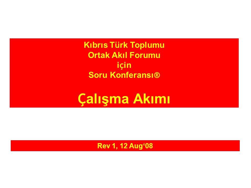 Kıbrıs T ü rk Toplumu Ortak Akıl Forumu i ç in Soru Konferansı ® Ç alışma Akımı Rev 1, 12 Aug'08