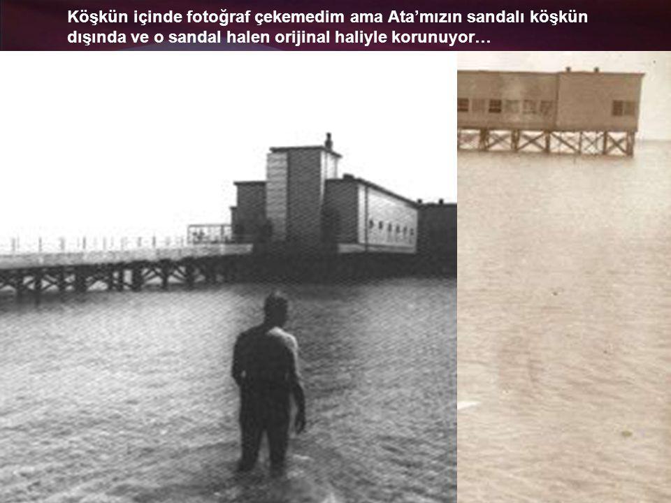 Atatürk sık sık halkla birlikte denize girermiş Florya'da.